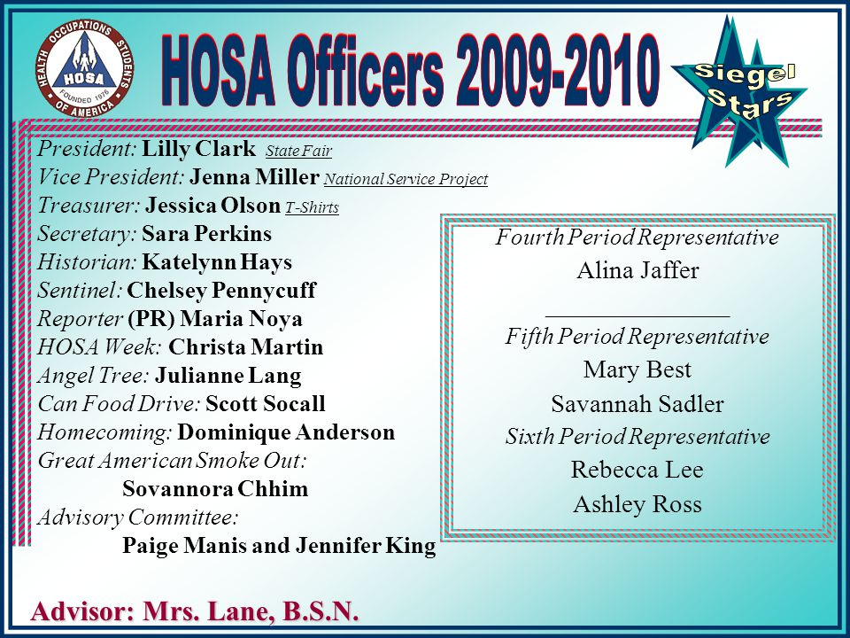 """From Simple Scrapes to Failing Hearts, HOSA's Where the Healing Starts"" National Theme"
