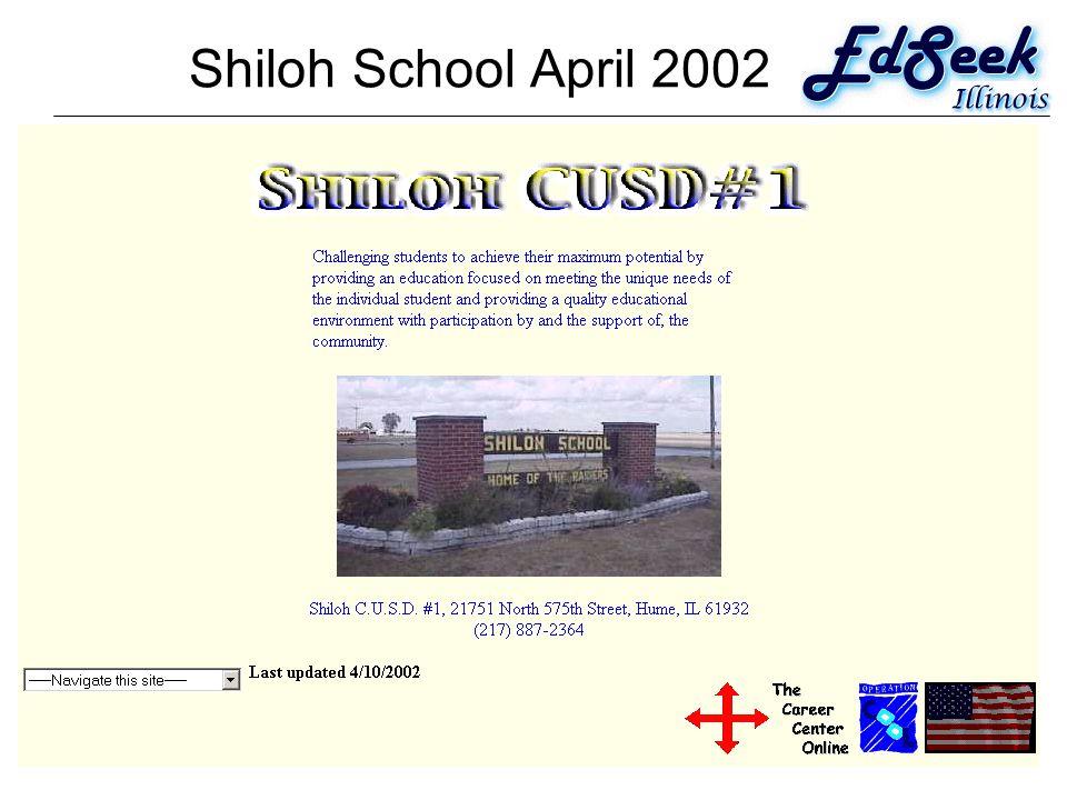 Shiloh School April 2002