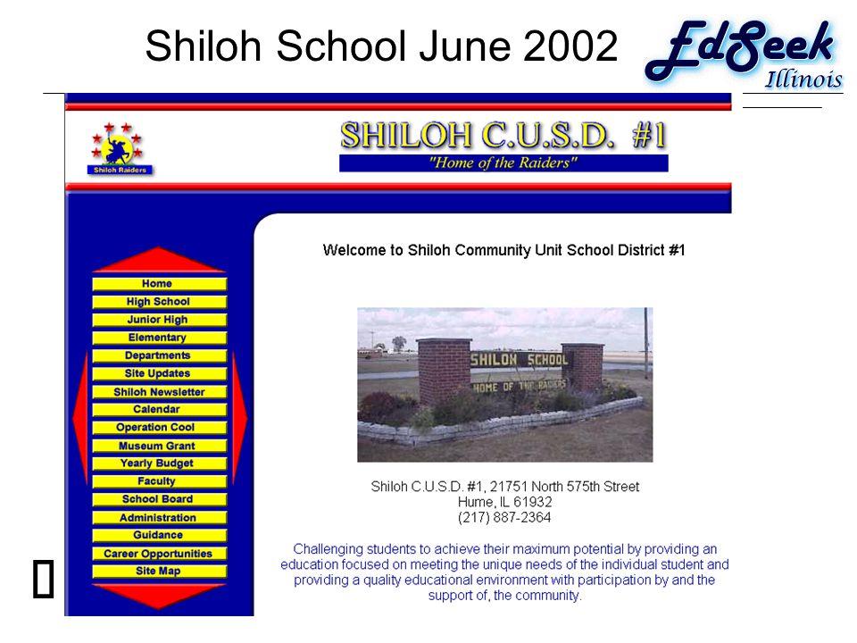 Shiloh School June 2002