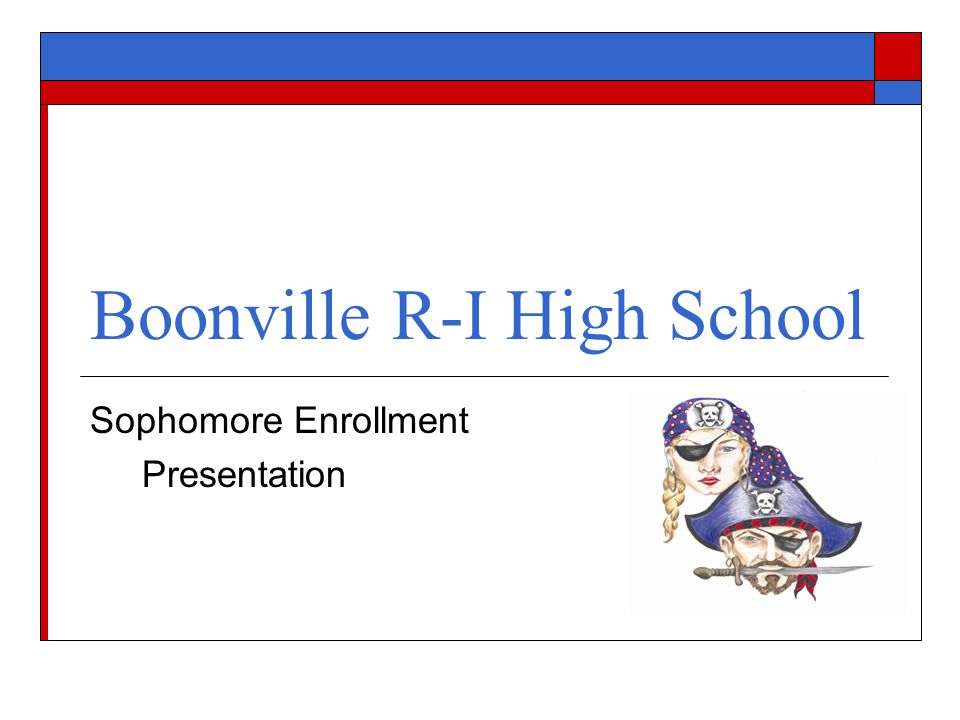 Boonville R-I High School Sophomore Enrollment Presentation