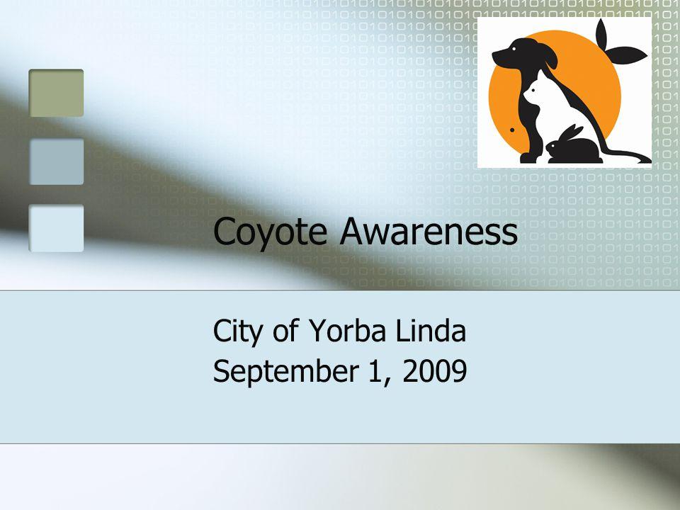 Coyote Awareness City of Yorba Linda September 1, 2009