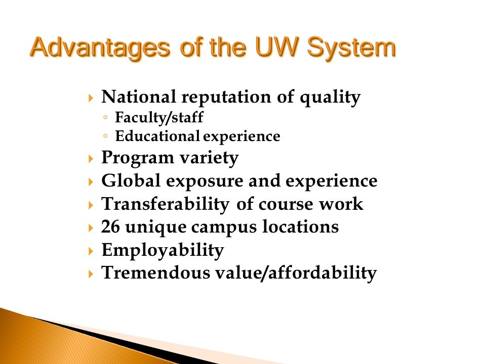Tuition Comprehensives $5,700-9,700 UW Colleges $4,500-4,700 Room and Board $6,000-9,000* *With common meal plan and double room Miscellaneous Expenses Books Car/travel Laptops Pizza money Cell phones FUN!