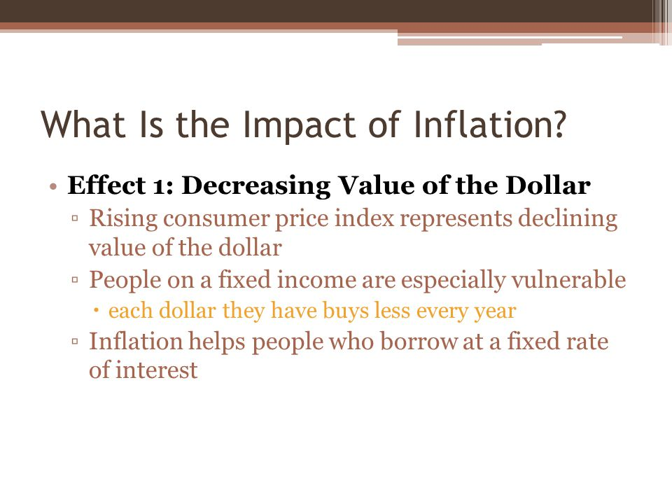 What Is the Impact of Inflation.