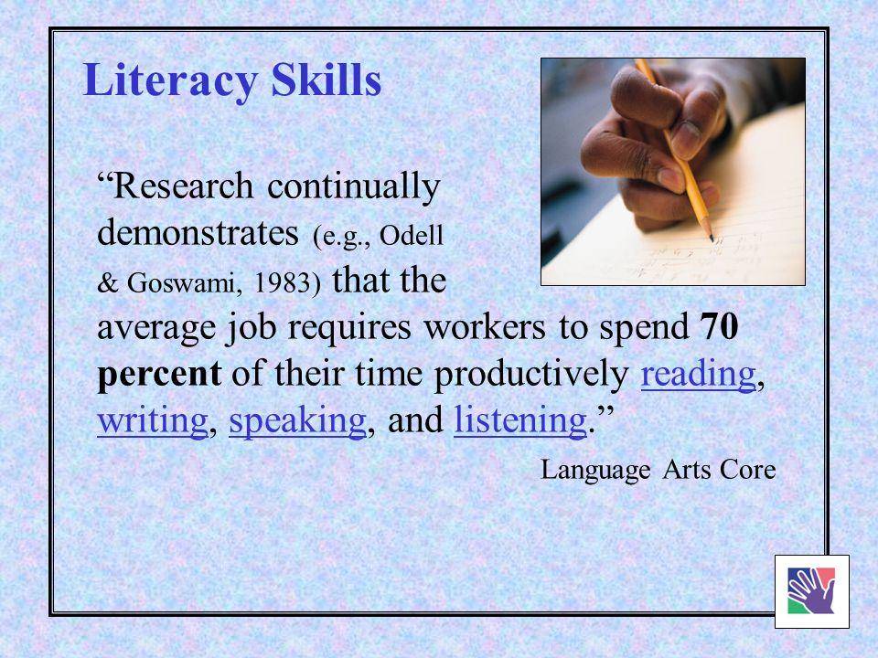 Basic Literacy Skills.