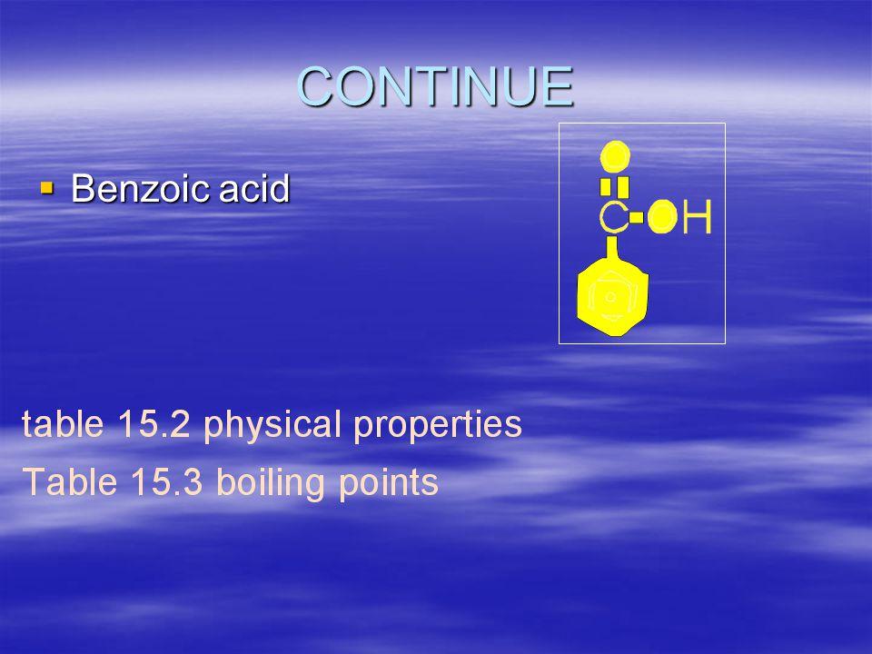 CONTINUE  Benzoic acid