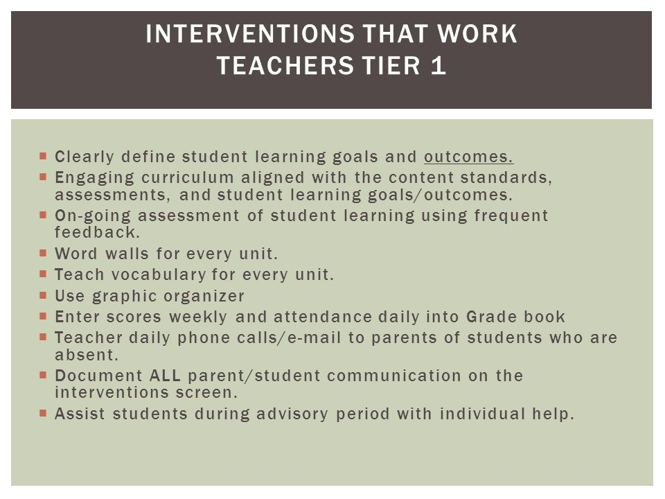  Clearly define student learning goals and outcomes.