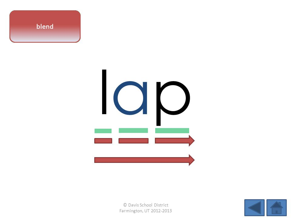 vowel pattern laplap letter sounds blend © Davis School District Farmington, UT 2012-2013