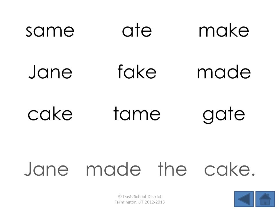 sameatemake Janefakemade caketamegate Jane made the cake.