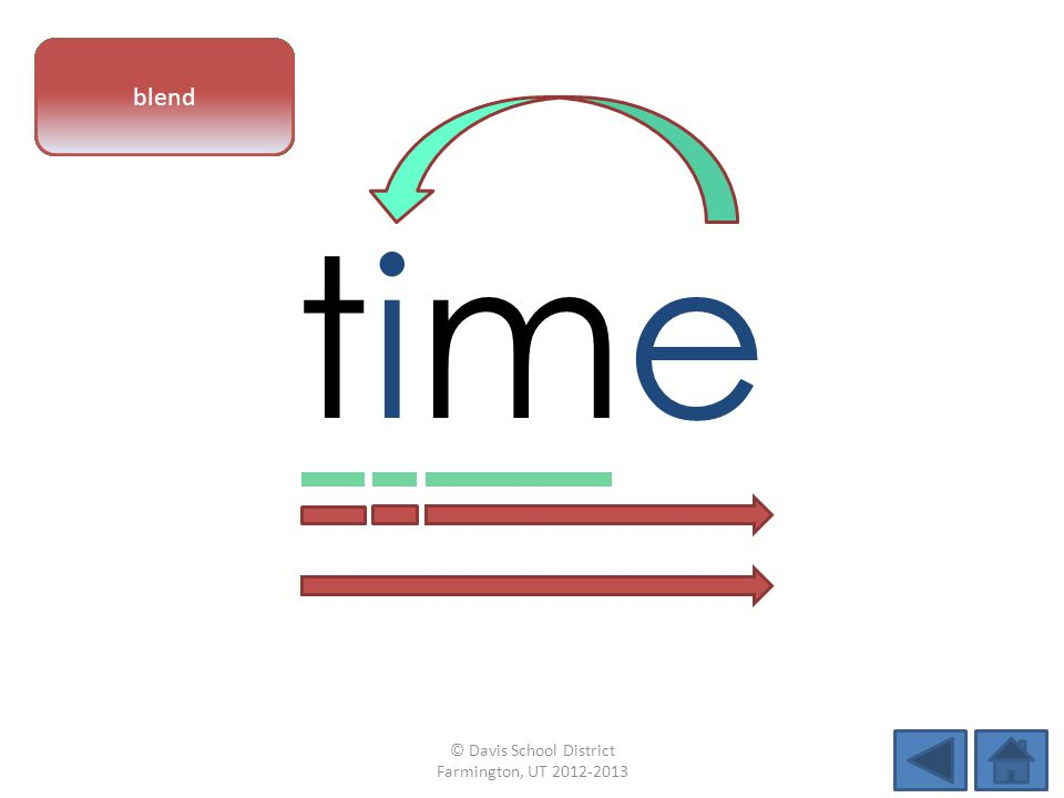 timetime vowel patternletter sounds blend