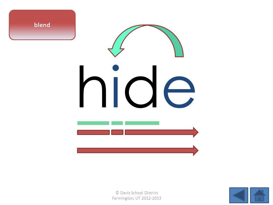 hidehide vowel patternletter sounds blend