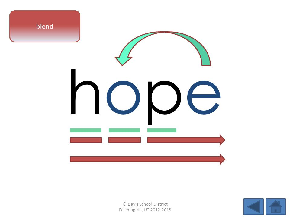 hopehope vowel patternletter sounds blend