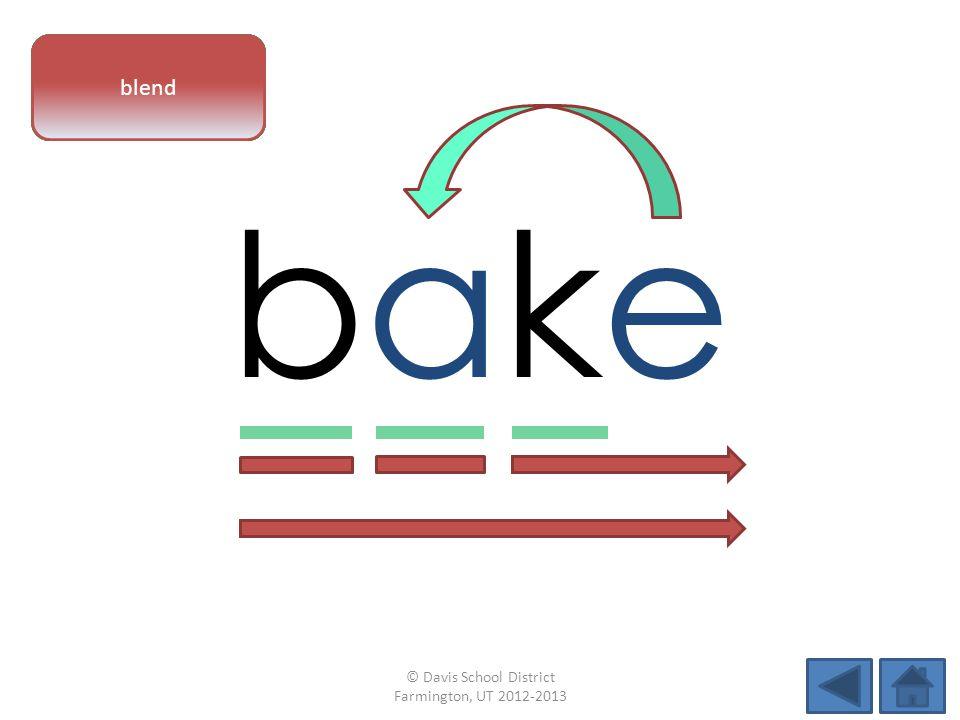 bakebake vowel patternletter sounds blend