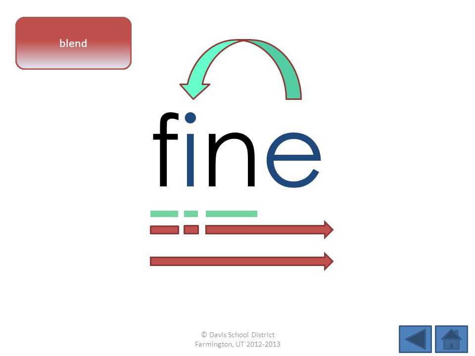 finefine vowel patternletter sounds blend