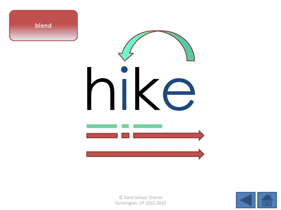 hikehike vowel patternletter sounds blend