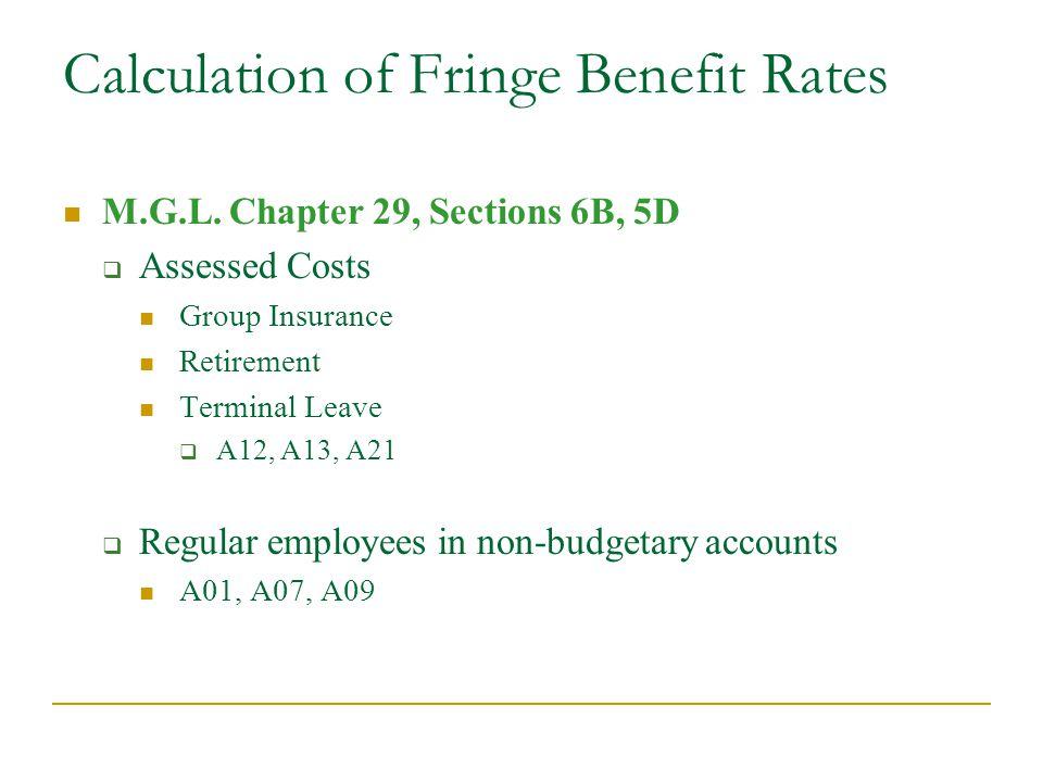 Calculation of Fringe Benefit Rates M.G.L.