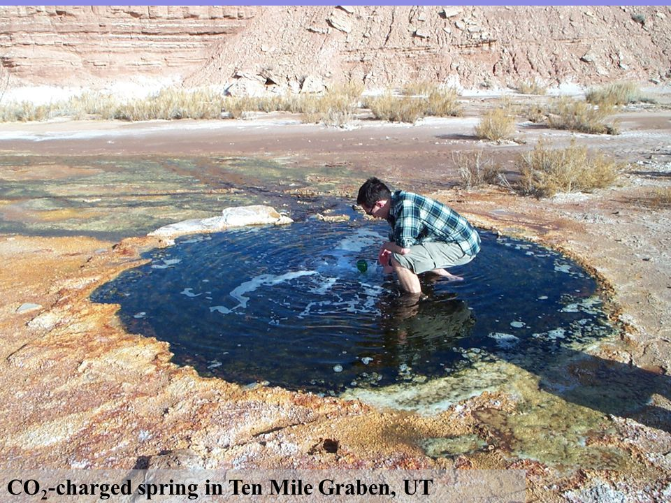 CO 2 -charged spring in Ten Mile Graben, UT