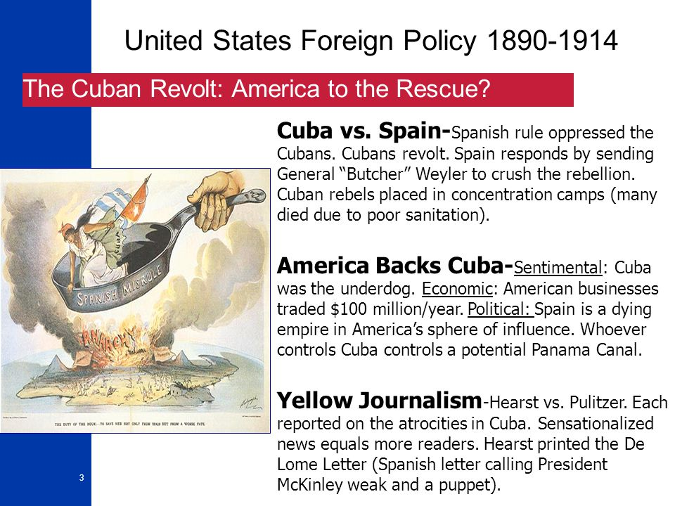 4 United States Foreign Policy 1890-1914 The U.S.S.