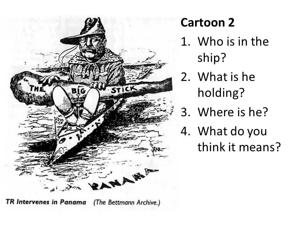 Write down three things you see in the cartoon below.