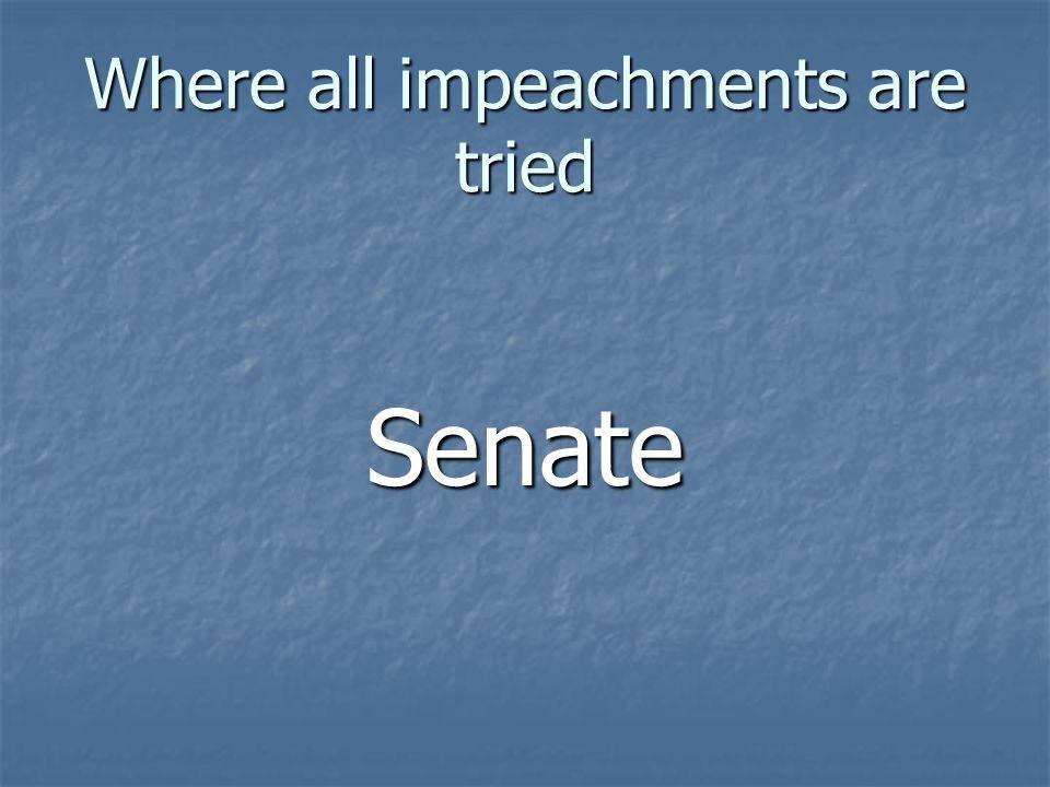 Where all impeachments are tried Senate