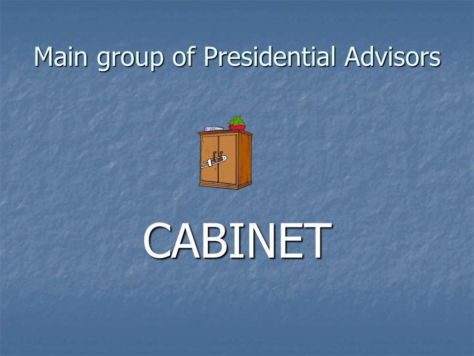 Main group of Presidential Advisors CABINET