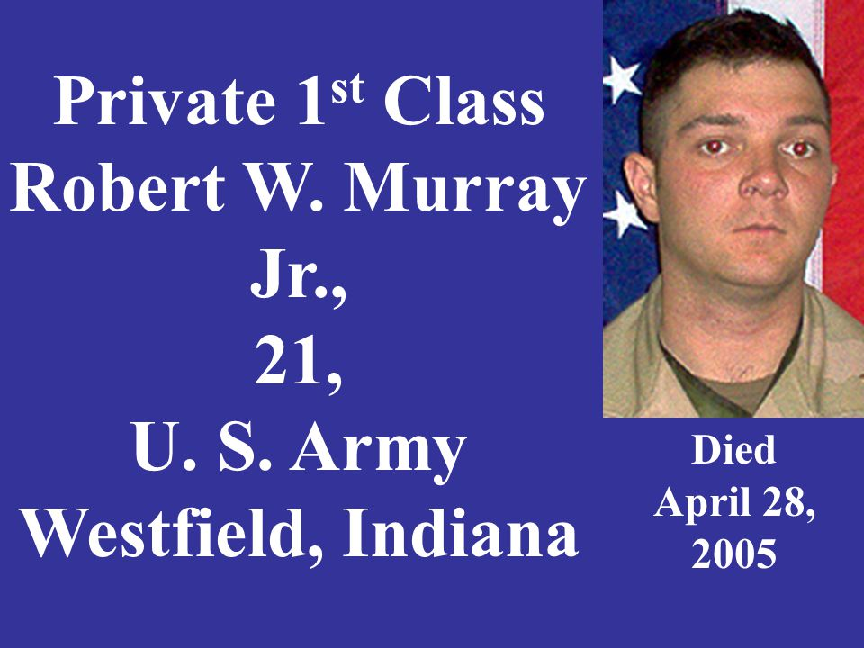Private First Class Zachary R. Nordmeyer, 21, Indianapolis, Indiana Died February 23, 2009