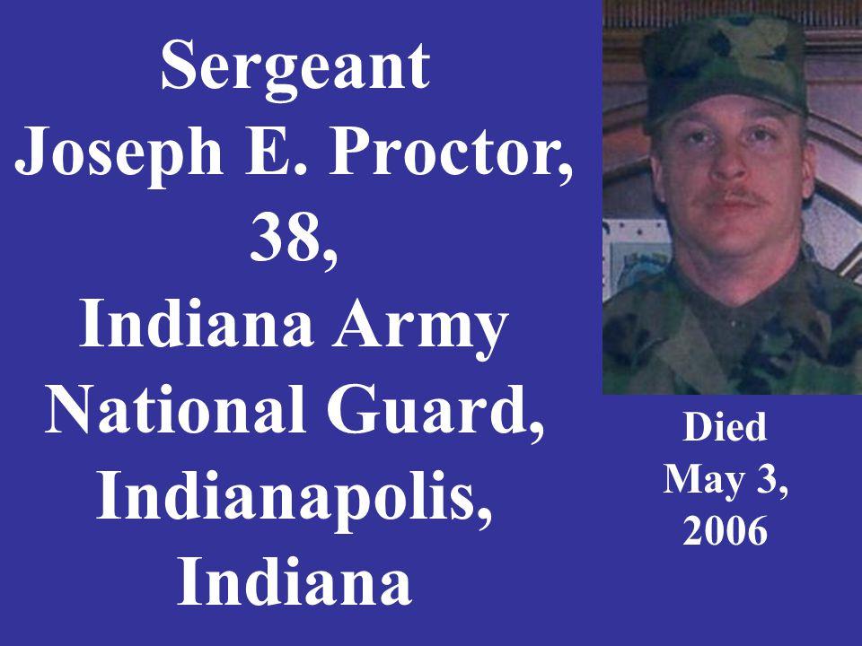 Petty Officer 3rd Class Jason Profitt, 23, U. S. Navy Charlestown, Indiana Died March 17, 2003