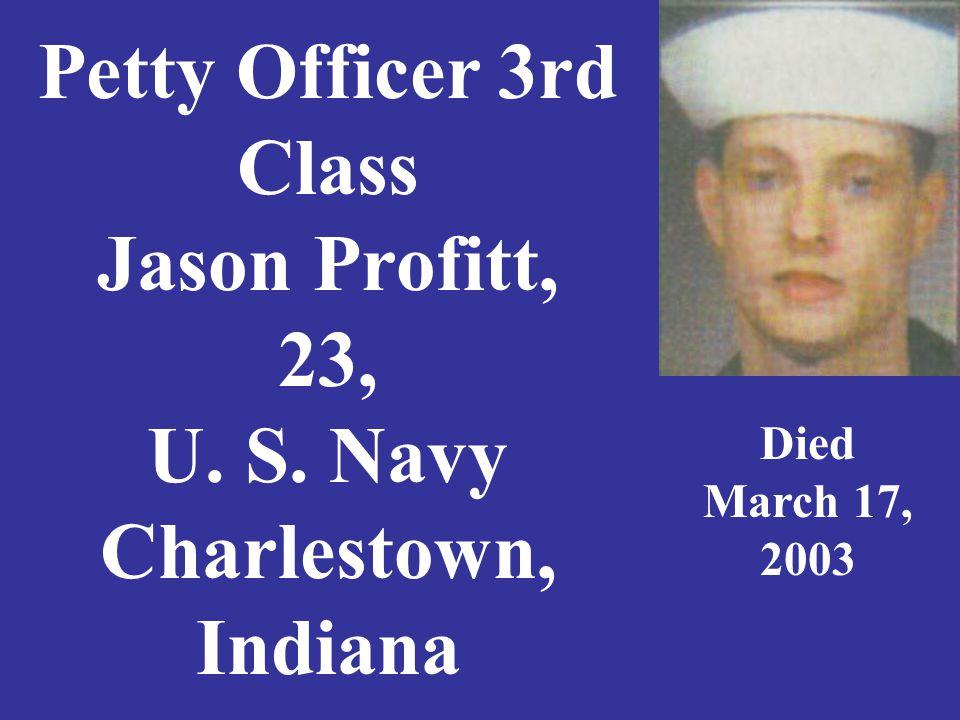 Specialist Cody Putman, 22, U.S. Army, Reynolds, Indiana Died April, 12, 2007