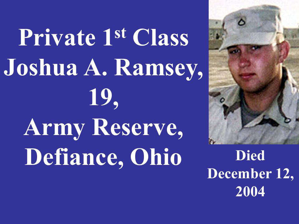 Sergeant Duane R. Rios, 25, U. S. Marine Corps, Griffith, Indiana Died April 4, 2003