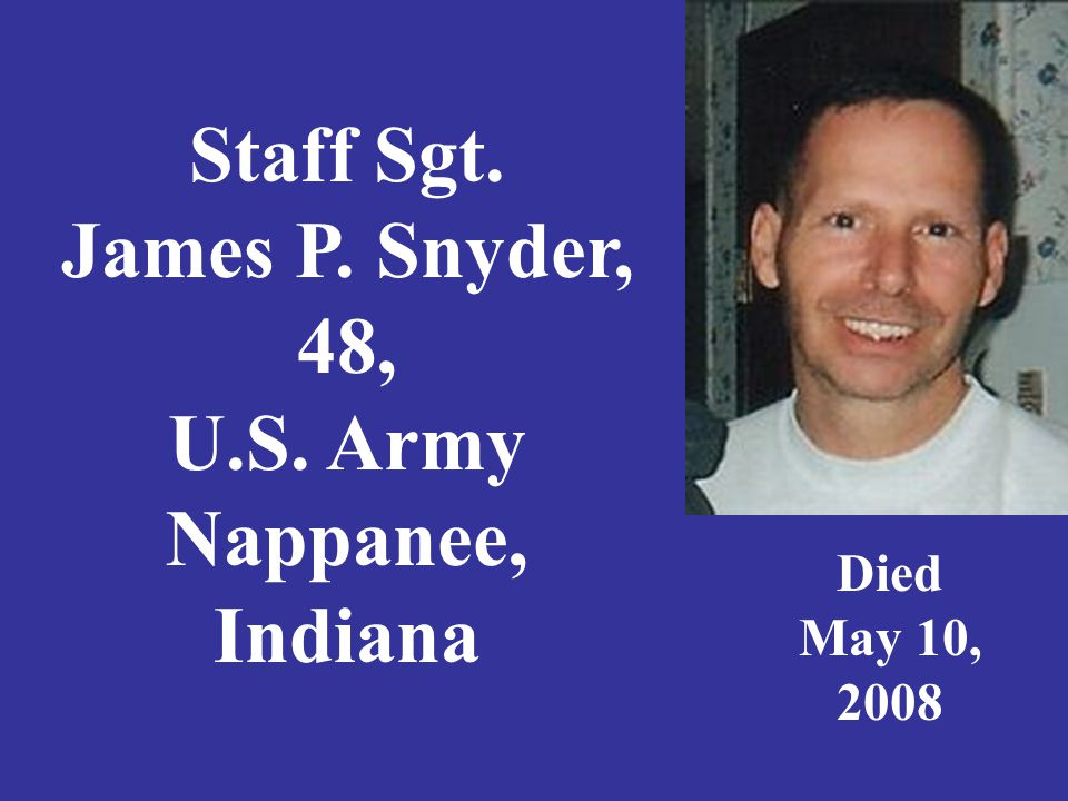 Specialist Norman Kyle Snyder, 21, Army National Guard, Carlisle, Indiana Died March 26, 2005