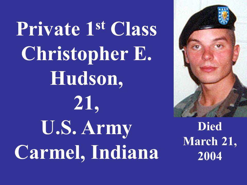 Staff Sgt. Travis K. Hunsberger, 24, U.S. Army Goshen, Indiana Died June 27, 2008