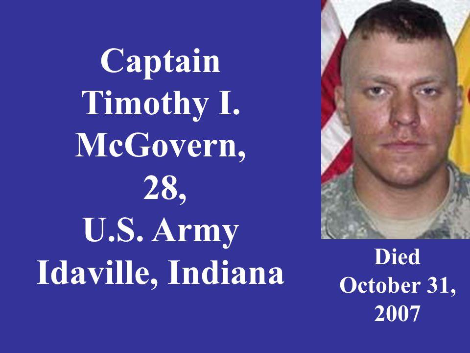 Staff Sergeant Eric A.McIntosh, 29, U.S.