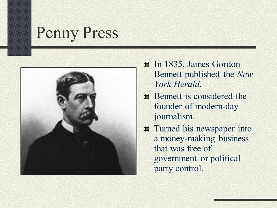 Penny Press Due to advances in printing technology, thousands of papers could be printed every hour. This lead to increased circulation and a paper's