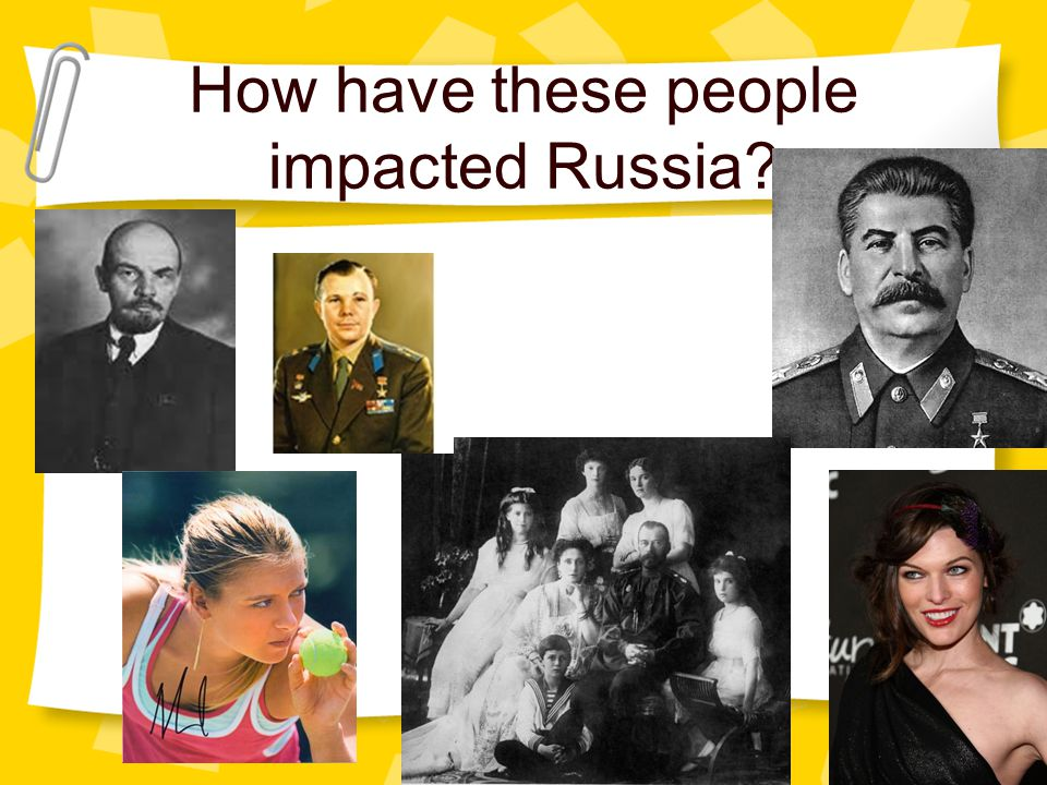 How have these people impacted Russia?