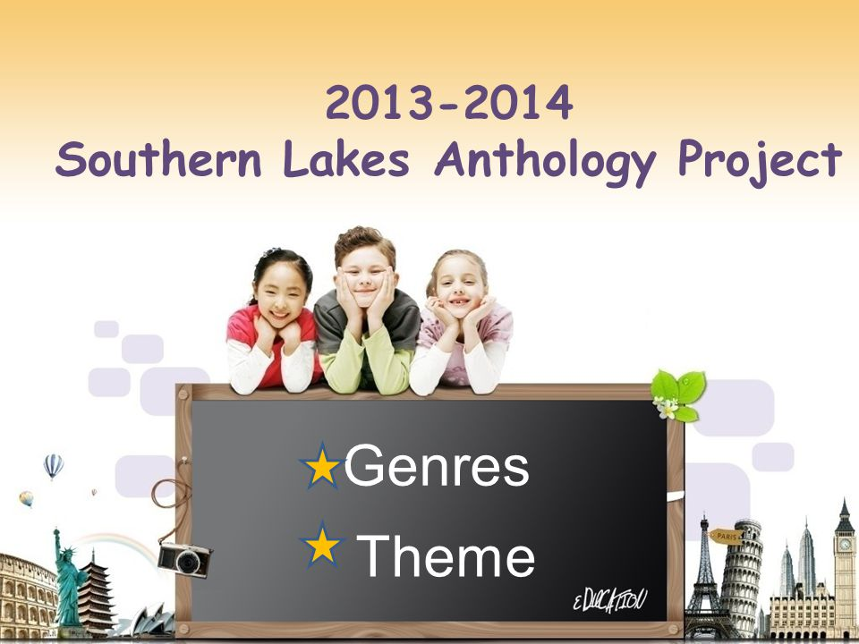 Genres Theme 2013-2014 Southern Lakes Anthology Project