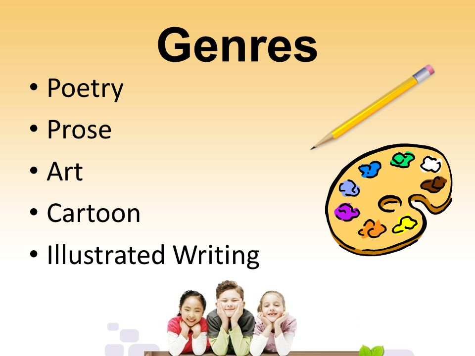 Illustrated Writing Maximum of two typed pages Writing and art must complement each other NO CLIP ART Two students may collaborate