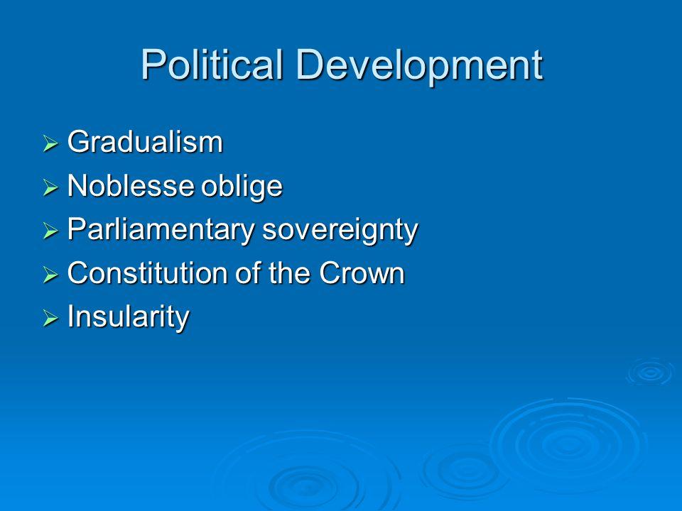 Economic Change  Collective consensus  Thatcherism  Blair's 3 rd Way