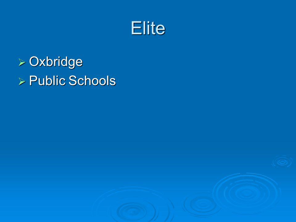 Elite  Oxbridge  Public Schools