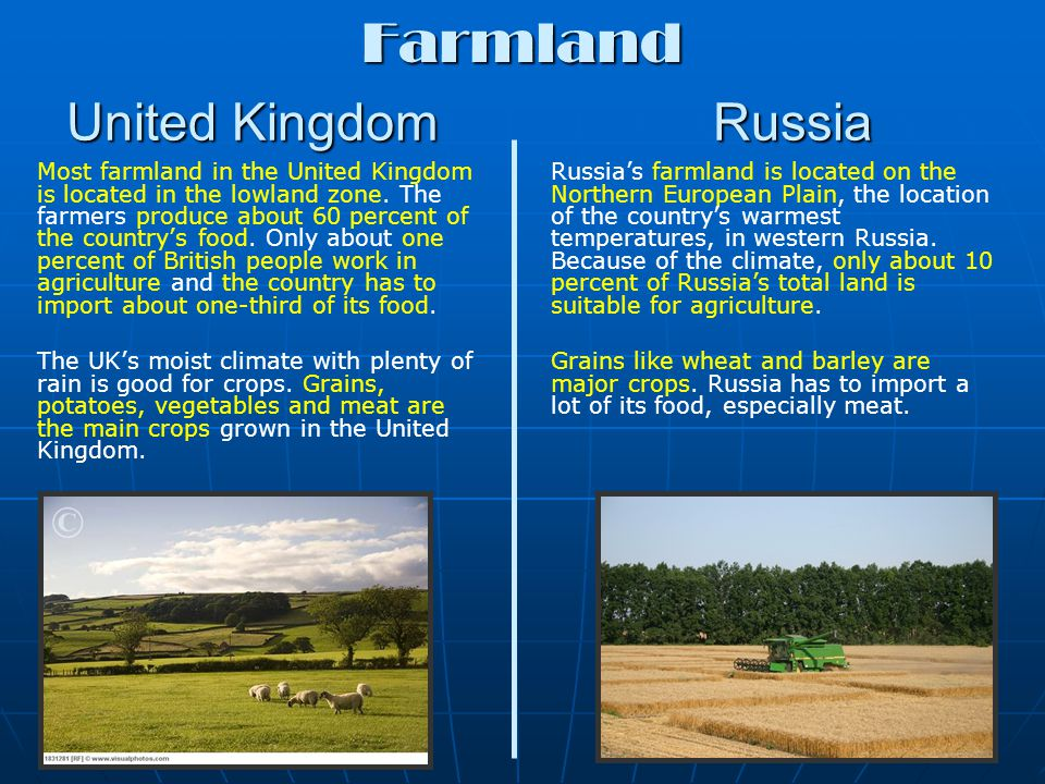 United Kingdom Russia Important natural resources like coal, oil, and natural gas are found in the mountainous highland zone.
