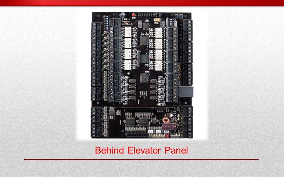 Behind Elevator Panel