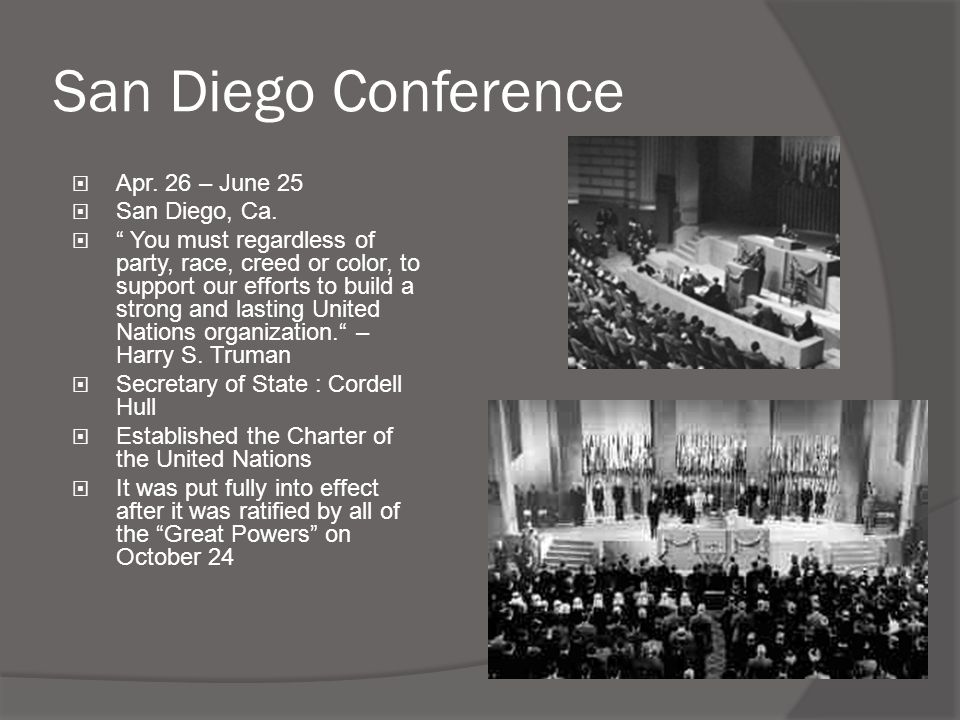 """San Diego Conference  Apr. 26 – June 25  San Diego, Ca.  """" You must regardless of party, race, creed or color, to support our efforts to build a st"""
