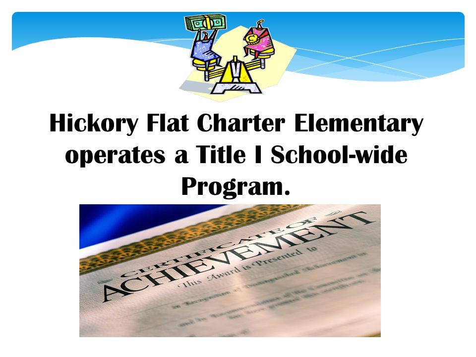 Hickory Flat Charter Elementary operates a Title I School-wide Program.