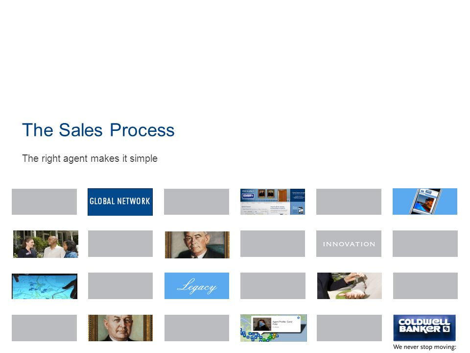 The Sales Process The right agent makes it simple