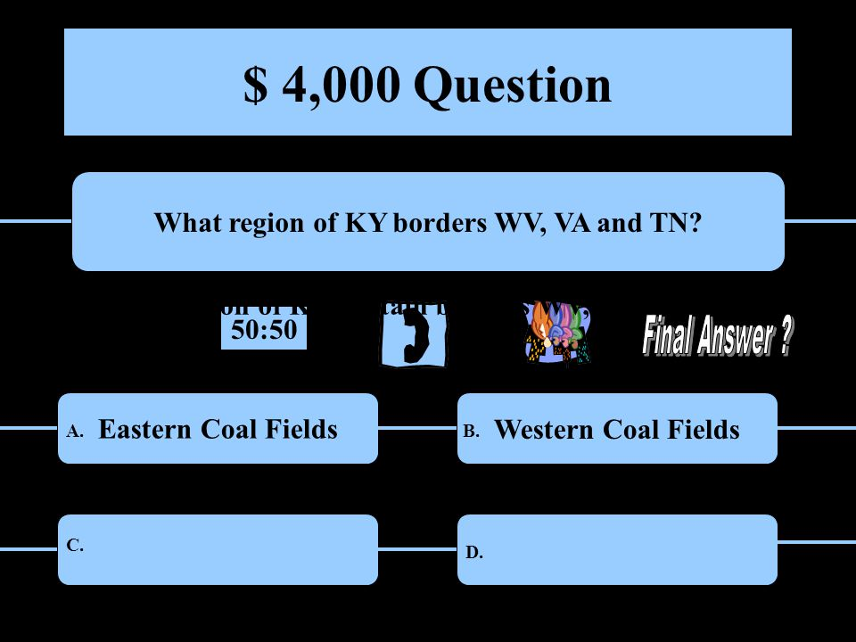 $ 4,000 Question What region of KY borders WV, VA and TN.