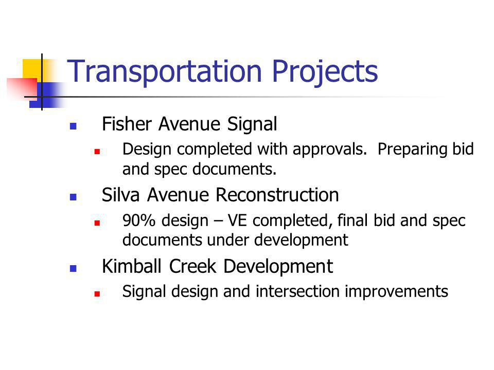 Transportation Projects Meadowbrook Way Bridges Critical bridge replacement with box culverts.