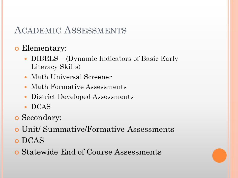 P ROFICIENCY REQUIREMENTS OF DCAS Original Model 84% must meet or exceed the standard in ELA 75% must meet or exceed the standard in Math Growth Model Target ELA Score = 237 Target Math Score = 201