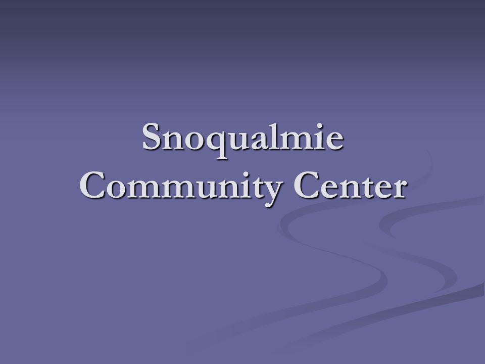 Snoqualmie Community Center