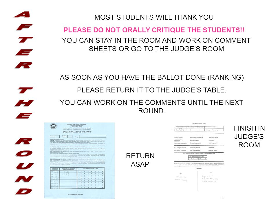 MOST STUDENTS WILL THANK YOU PLEASE DO NOT ORALLY CRITIQUE THE STUDENTS!.