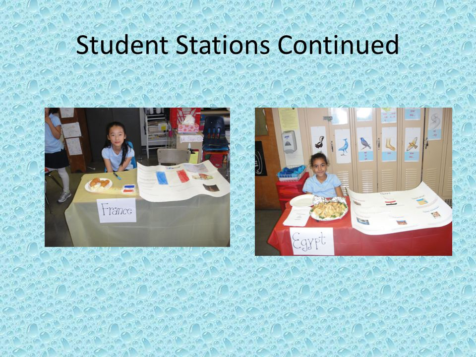 Student Stations Continued