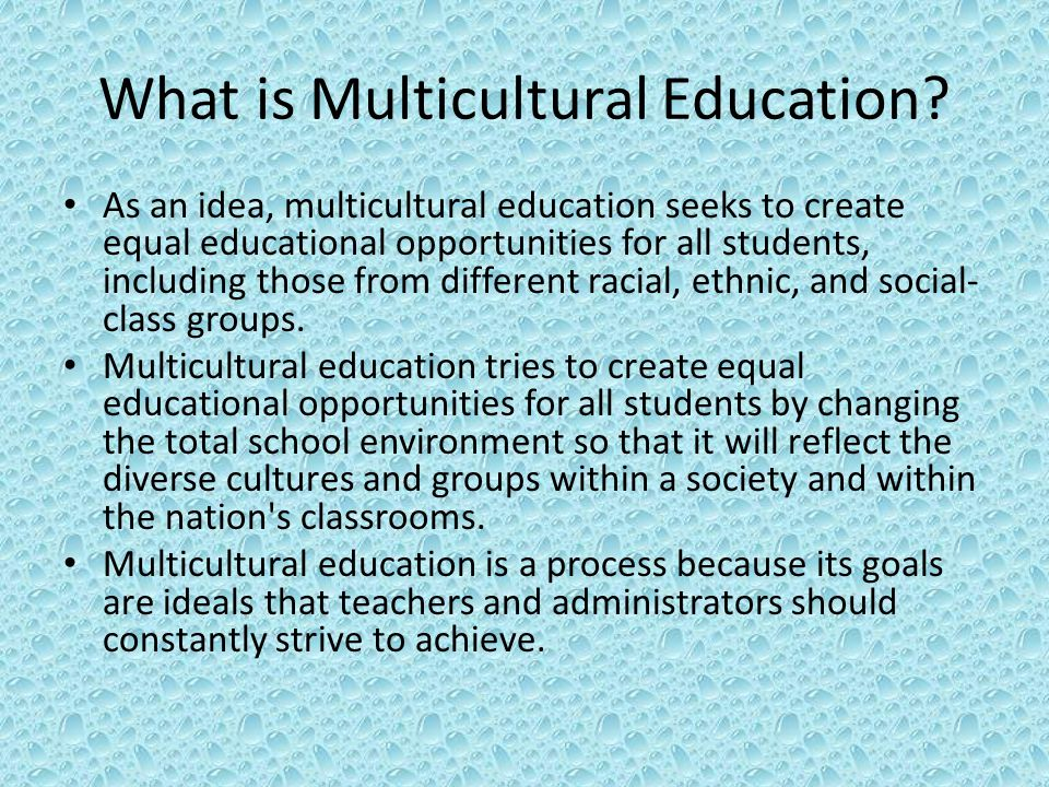 What is Multicultural Education.