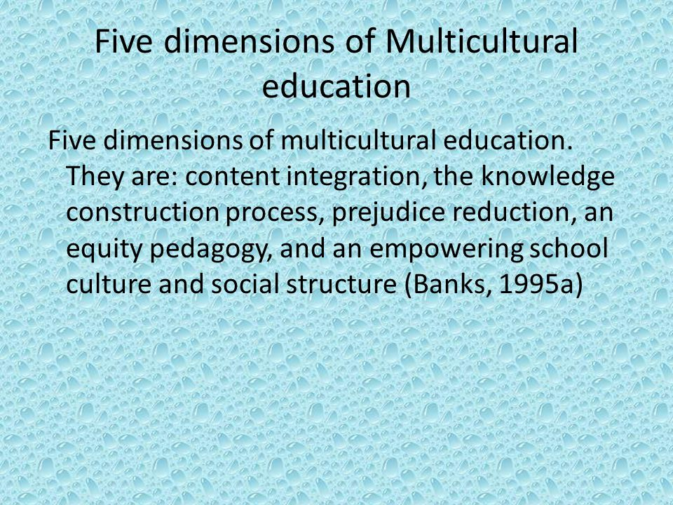 Five dimensions of Multicultural education Five dimensions of multicultural education.